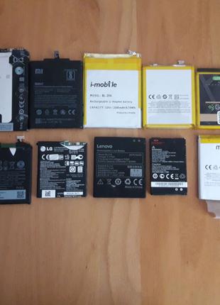 Аккумулятор батарея на телефон HTC, Huawei, Mi Lg, Meizu, Vertice