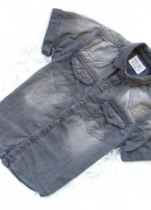 Стильная джинсовая рубашка с коротким рукавом next