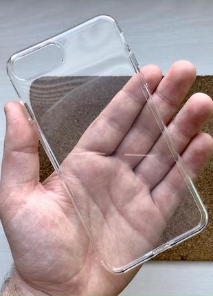 Чехол прозрачный на для айфон iphone 8 + плюс plus силиконовый