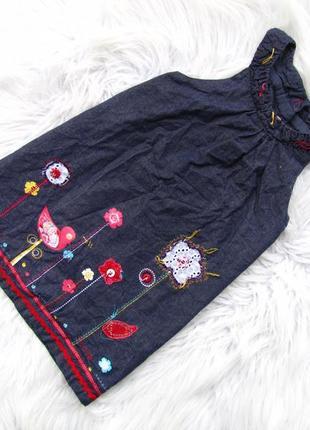 Стильный джинсовый сарафан платье orchestra
