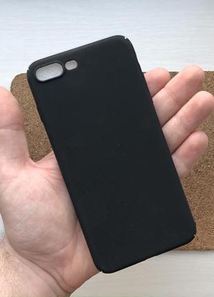 Чехол пластиковый черный на для айфон iphone 8 + плюс plus