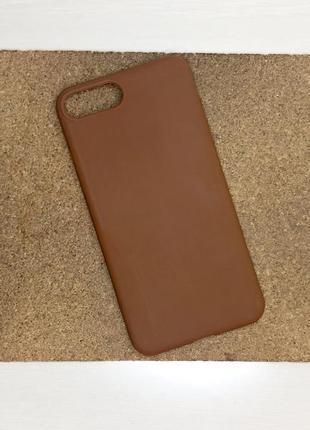 Чехол коричневый на для айфон iphone 8 + плюс plus силиконовый