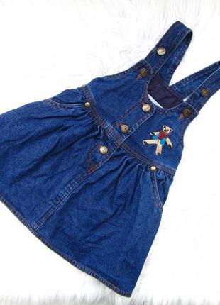 Стильный джинсовый сарафан платье ticaid