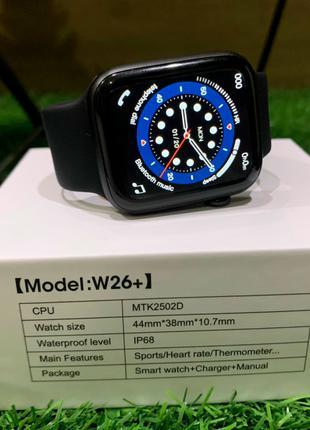 Умные смарт-часы Smart Watch W26+ Black