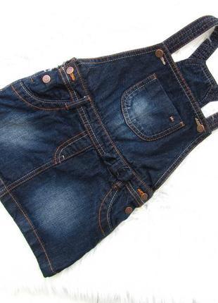 Стильный и качественный джинсовый сарафан платье kiabi