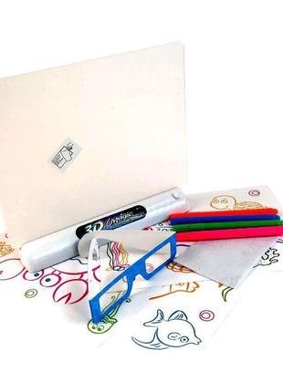 Доска-планшет 3Д доска для рисования 3D Magic Drawing Board