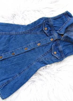 Стильный джинсовый сарафан платье topolino