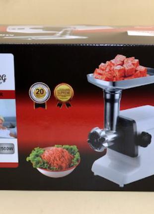 Электрическая мясорубка с Соковыжималкой Crownberg CB-4212 2500 В