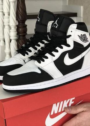 Кроссовки мужские nike air jordan черные белые / кросівки...