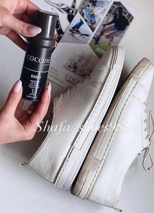 Крем - паста отбеливатель для белой обуви coccine bianco