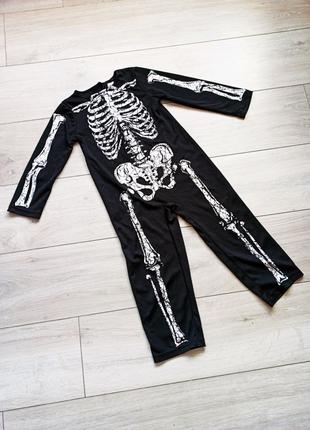 Костюм скелета на 3-4 года