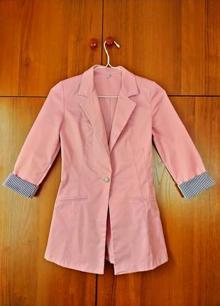 Рожевий жакет (піджак) / Розовый пиджак