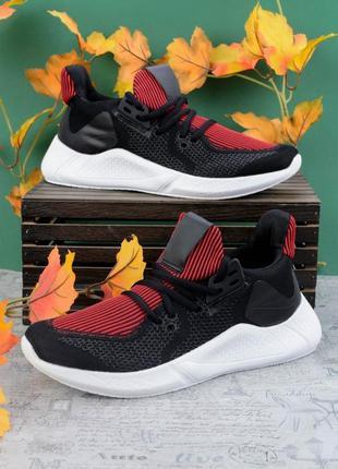 Мужские черно-красные кроссовки, чоловічі кроссовки