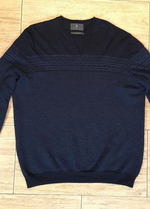 Премиум свитер шерсть меринос+шелк marks & spencer