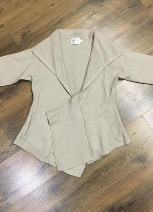 Красивая женская шерстяная кофта накидка пиджак masai оригинал