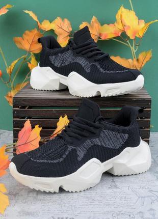 Женские черные кроссовки, женские кроссовки