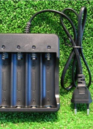Зарядное сетевое для батарей 18650 x4 JXC-008