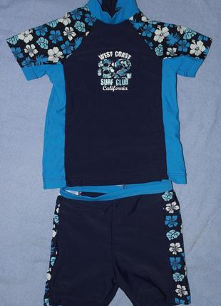 West coast детский костюм купальный для плаванья шорты футболка