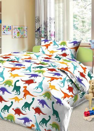 Постельное белье с динозаврами,только натуральные ткани