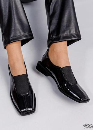 Кожаные лаковые женские туфли натуральная кожа