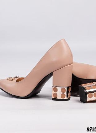 Кожаные шикарные туфли лодочки натуральная кожа