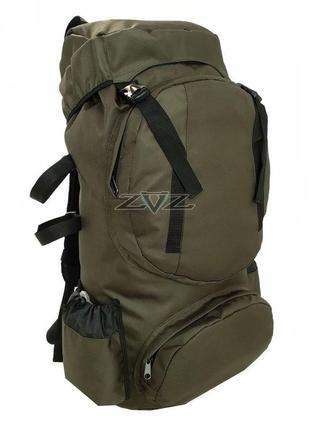 Рюкзак для туризма и рыбалки 80л (Oxford-PU 1600D) Койот