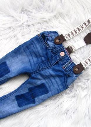 Стильные джинсы  штаны брюки с подтяжками next