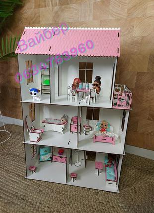 Топ продаж!Мебель в подарок!Кукольный домик,дом для кукол лол,...