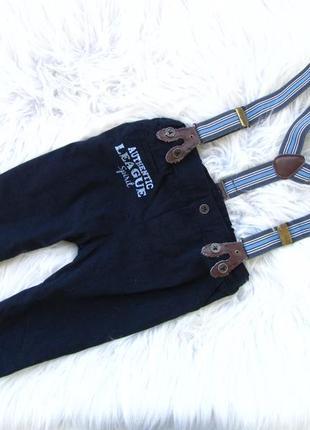 Стильные  штаны брюки с подтяжками disney.