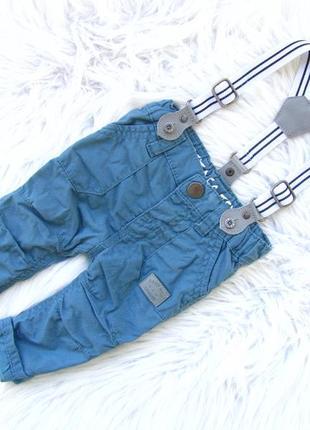 Стильные джинсы  штаны брюки с подтяжками gemo