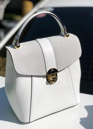 Кожаный рюкзак сумка италия borse in pelle