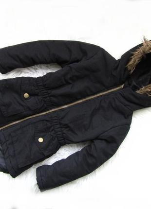 Стильная теплая  куртка с капюшоном pepco