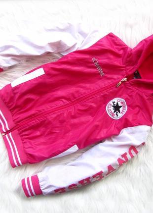 Стильная утепленная  куртка с капюшоном converse