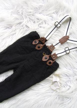 Стильные джинсы штаны брюки с подтяжками kiabi