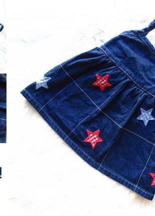 Стильный джинсовое платье сарафан oshkosh