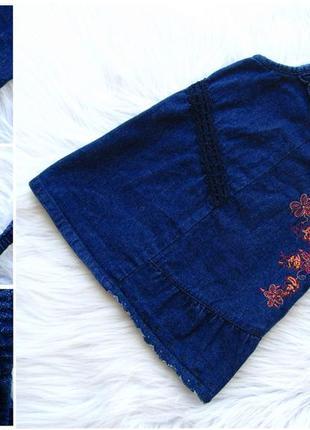 Стильный джинсовое платье сарафан tcf