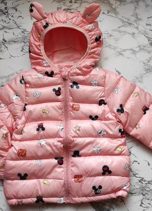 Куртка демисезон розовая с ушками