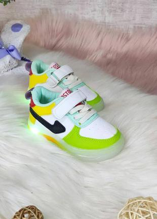 Кроссовки с подсветкой детские для девочки