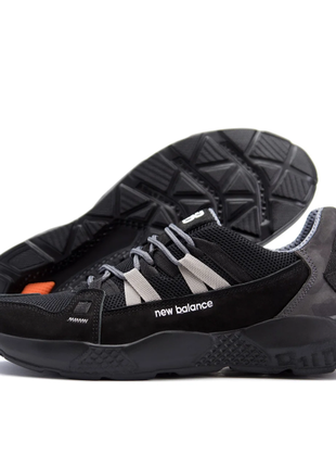 Мужские летние кроссовки сетка new balance black