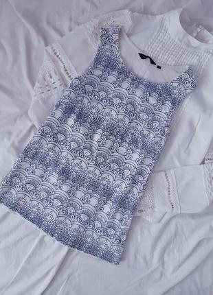 Кружевна майка блузка