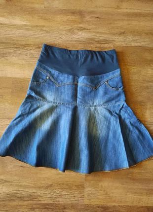 Юбка джинсовая для беременных.