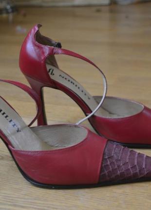 Туфли питон натуральная кожа