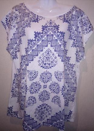 🌺 🌿 футболка народная со стразами /натуральная ткань 🌺 🌿 🍃