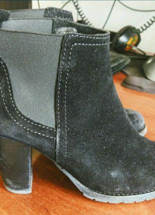 Ботильоны Mango замшевые ботинки Mng