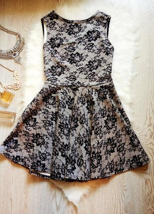 Нарядное платье в цветочный рисунок и юбкой солнце клеш колоко...