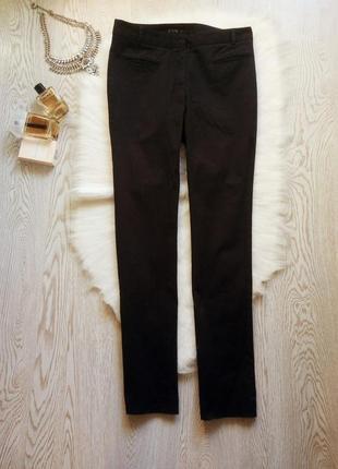 Черные женские хлопковые черные прямые брюки штаны от zara кла...