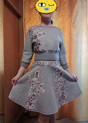 Теплый женский костюм в азиатском стиле