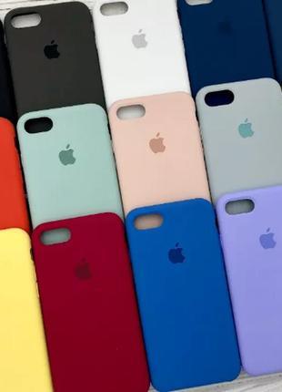 Чехол silicone case на apple iphone