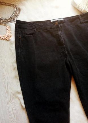 Черные прямые джинсы с высокой талией батал плюс сайз большой ...