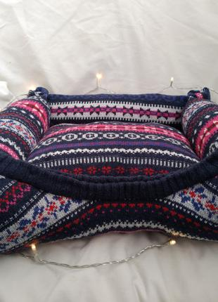 Новая лежанка для кошки\ собаки со съёмной подушкой